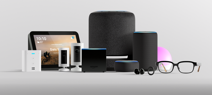 An array of Alexa-enabled devices.