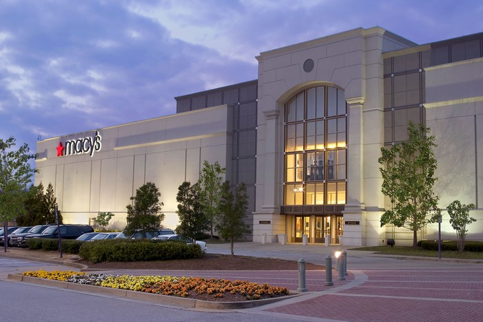 The exterior of a Macy's full-line store