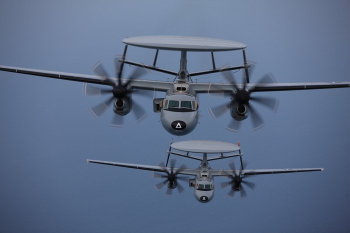 E-2D Advanced Hawkeye aircraft in flight