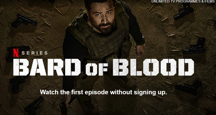 Screengrab of the Bard of Blood from Netflix's website.