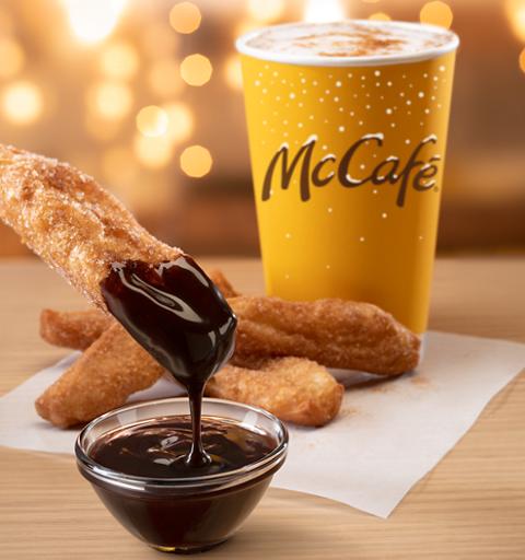 The new McCafe seasonal offerings.
