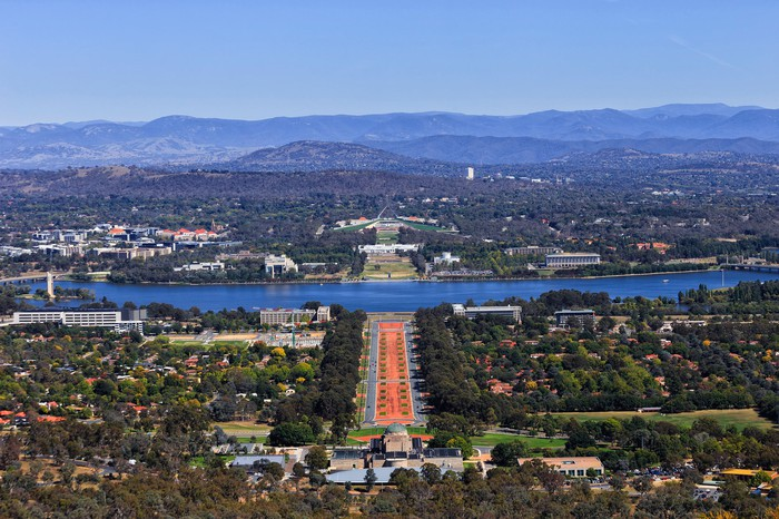 City view of Canberra, Australia