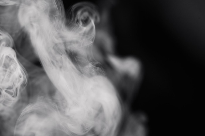 Smoke against a black background
