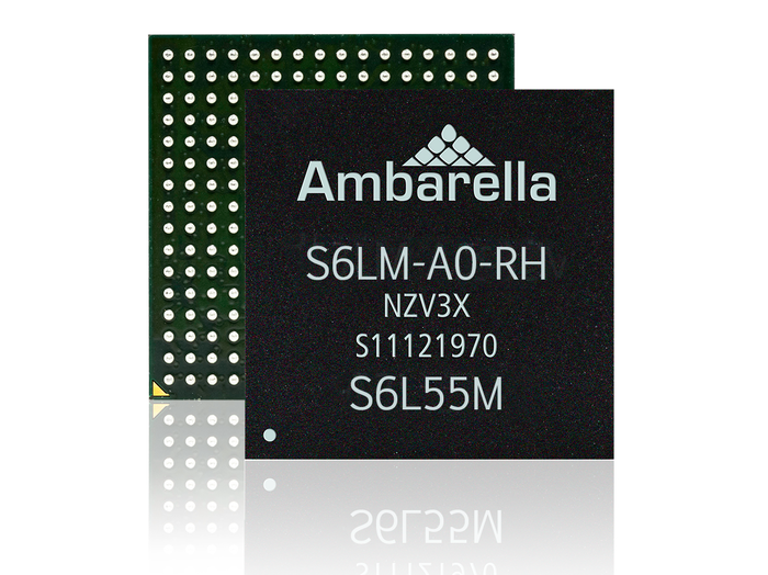 Chip with Ambarella markings on the back.