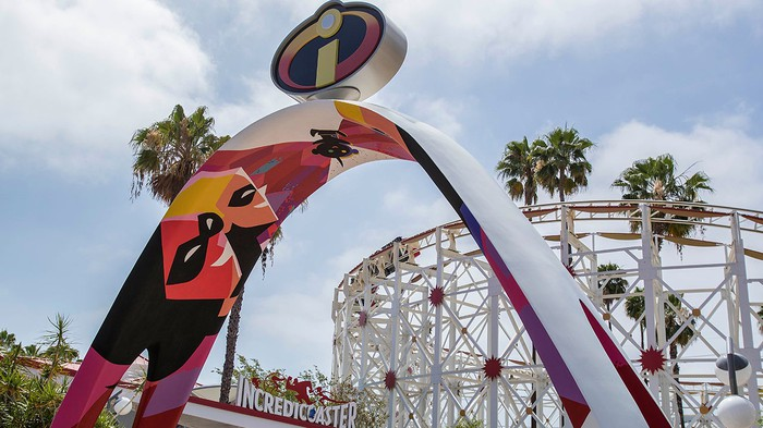 A roller coaster based on The Incredibles