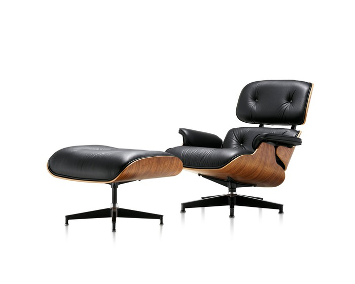 The classic Eames lounge chair and ottoman