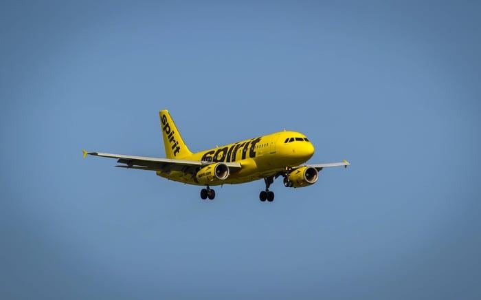 A Spirit airplane.