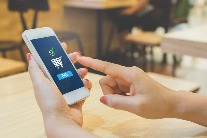 A payment app on a smartphone.