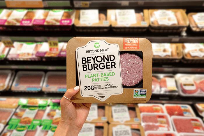 A packaged Beyond Burger.