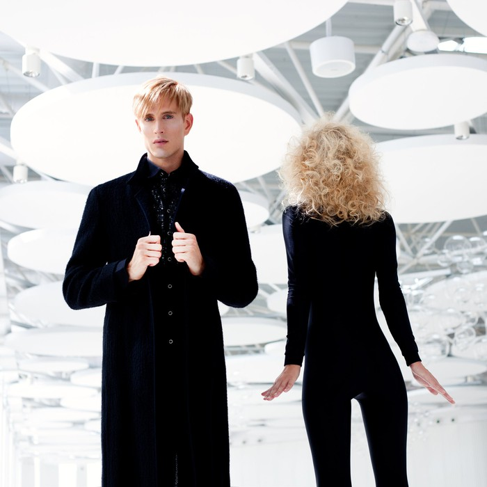 2 models on a catwalk