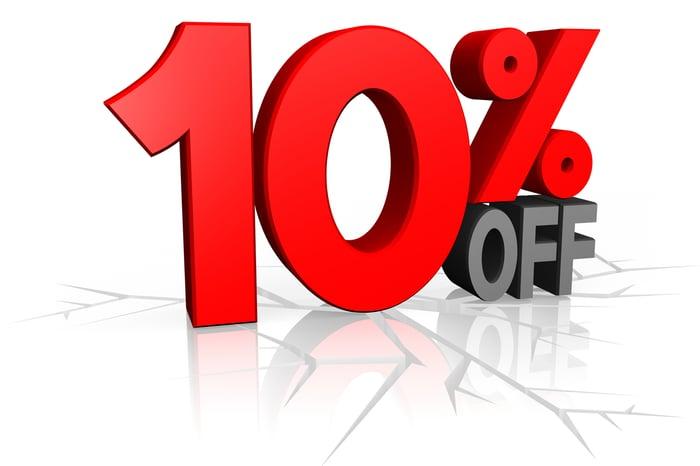 10% off illustration