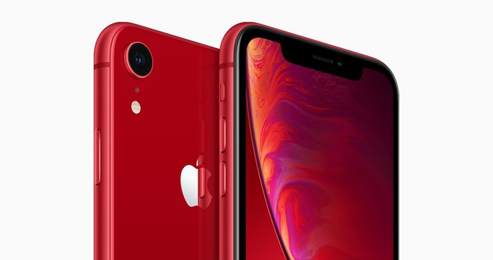 Two red iPhone XR models