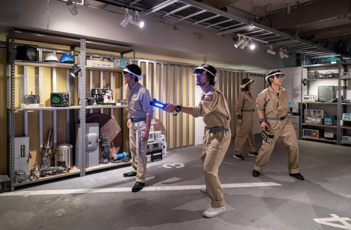 Ghostbusters' AR experience at Sony's Ginza Park.