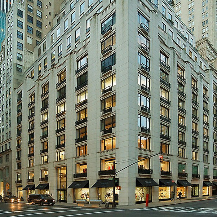 The exterior of the Barneys New York flagship store in Manhattan