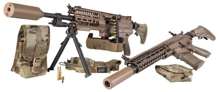 The weapons Sig Sauer entered into the Army competition