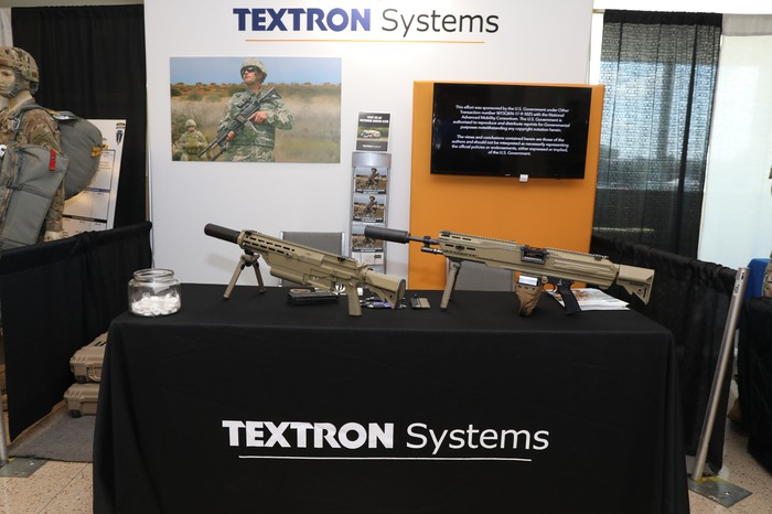 Textron's entry on display at a vendor booth