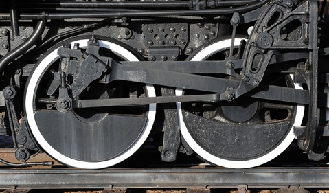 Black Locomotive Wheels White Trim