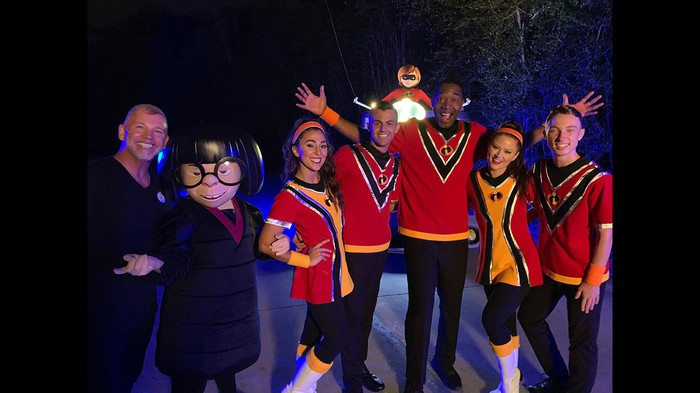 Disney visitors are dressed as The Incredibles.