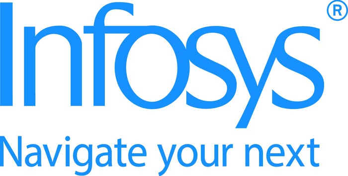 Infosys logo and slogan.