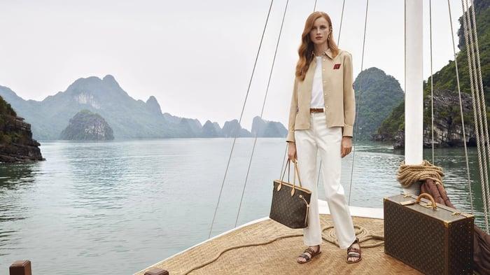 A Louis Vuitton ad campaign.