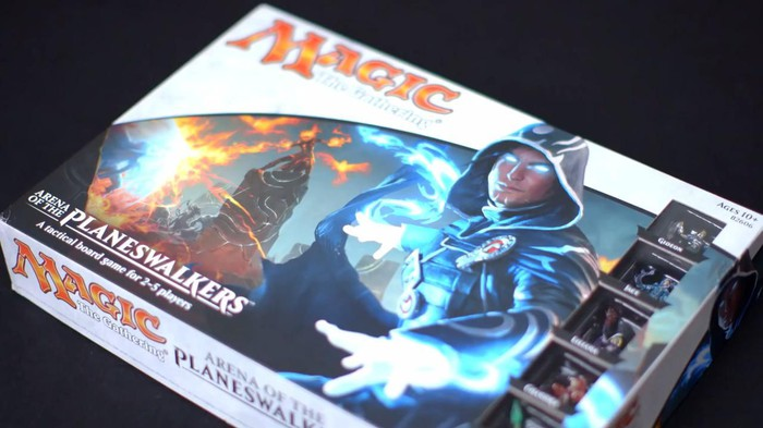 Box with Magic: The Gathering labeling and a hooded character on the front.