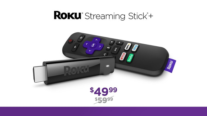 An ad for a Roku Streaming Stick+