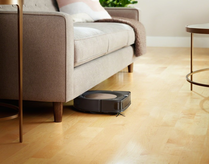 A Roomba vacuum cleaner