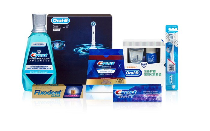 A range of oral care products from the Oral B and Crest brand family.
