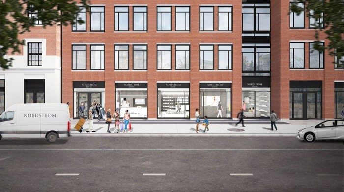 A rendering of the Greenwich Village Nordstrom Local