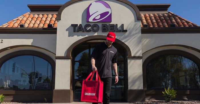 Grubhub delivering Taco Bell food