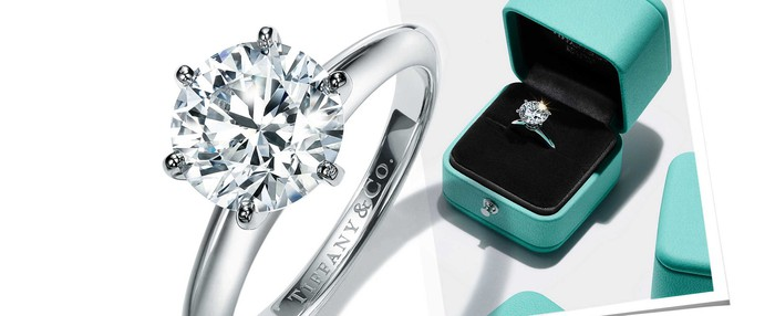 A Tiffany engagement ring.
