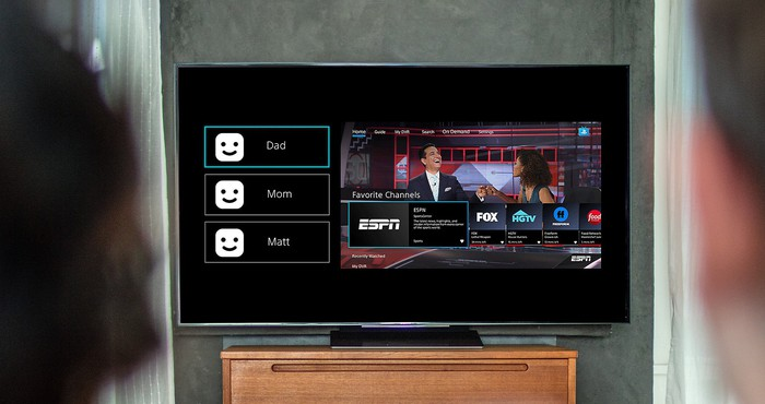 PS Vue running on a TV.