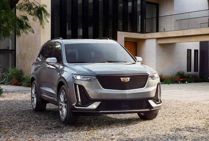 A Cadillac XT6, a seven-passenger luxury crossover SUV.