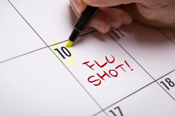 Flu Shot on calendar