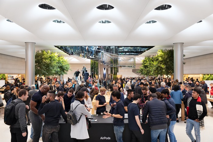AirPods Pro launch in an Apple store