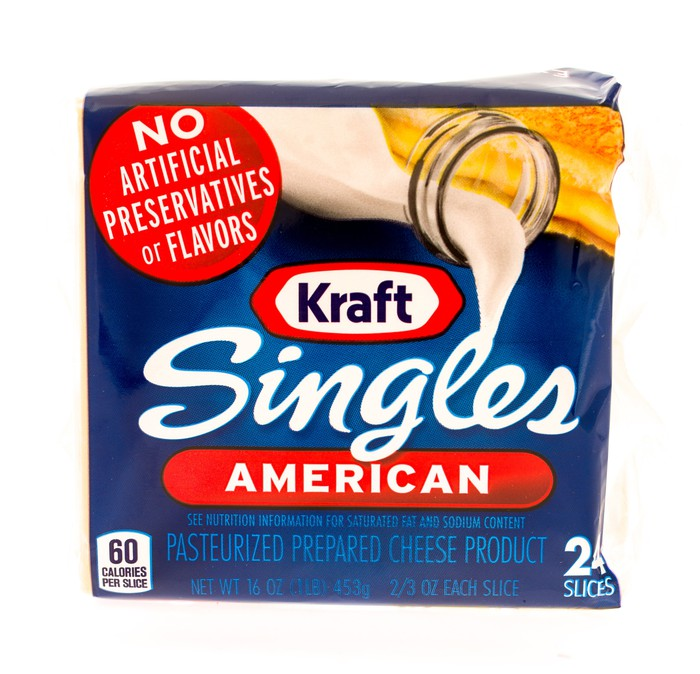 Package of kraft cheese slices
