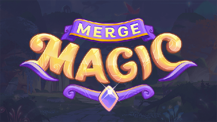 Logo for new Zynga adventure puzzle game Merge Magic!