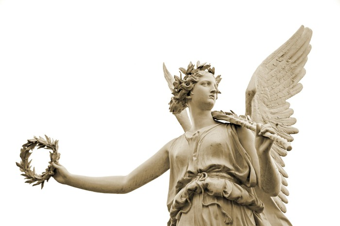 A statue of Nike, goddess of victory