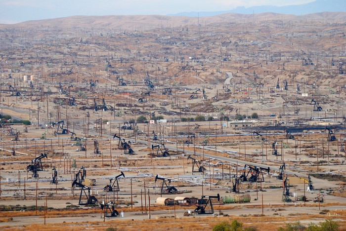 An oil field in California.
