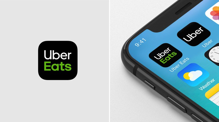 The Uber Eats app installed on a smartphone