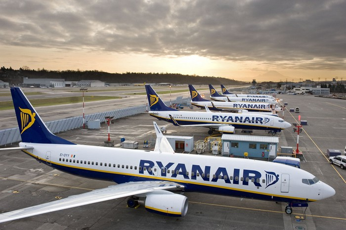 Ryanair planes.