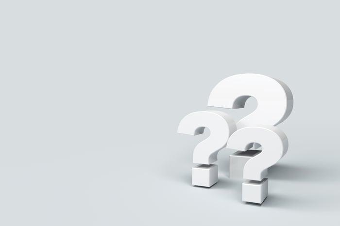 Three question marks