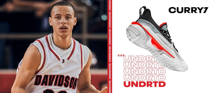Under Armour's Curry 7 shoes.