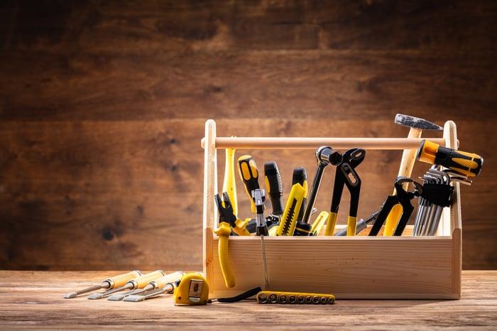 A DIY toolbox.