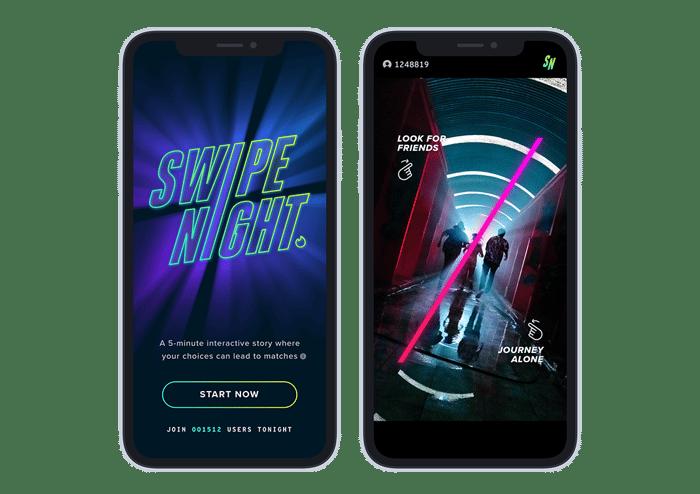 The Swipe Night interactive video