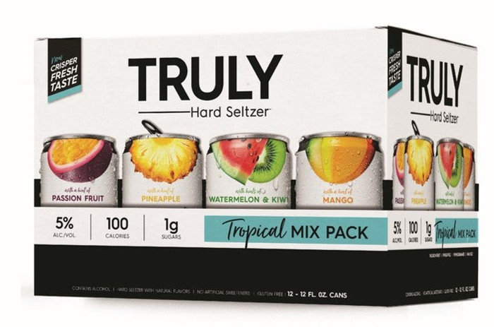 Case of Truly hard seltzer.