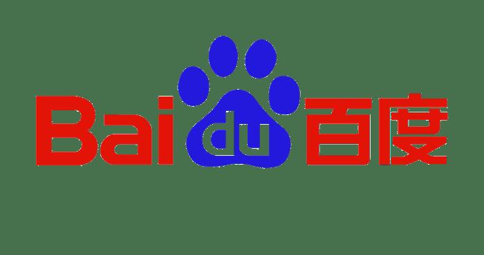 "Baidu logo with a pawprint for the ""du""."