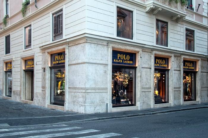 Ralph Lauren storefront in Rome.