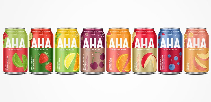 Coca-Cola's AHA sparkling water beverages.