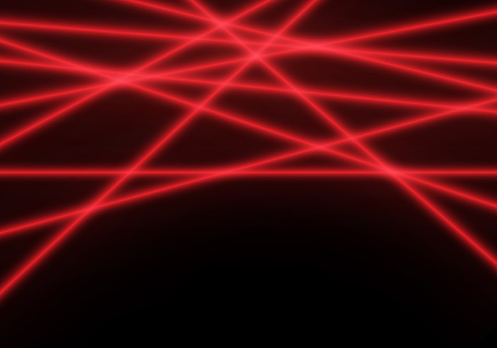 Mission Impossible-style red laser fence